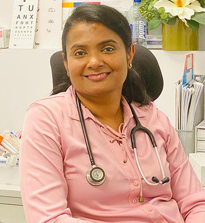 female doctor - Dr Damitha
